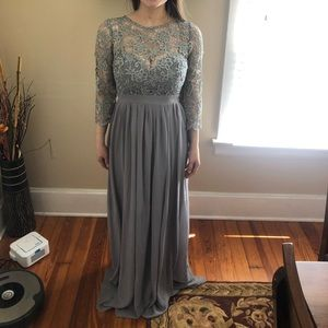 New Long Grey Bridesmaid/Formal Dress